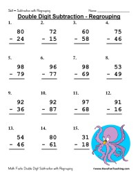 Free Subtraction Worksheets | Have Fun Teaching