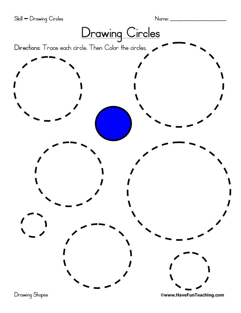 Drawing Circles Worksheet