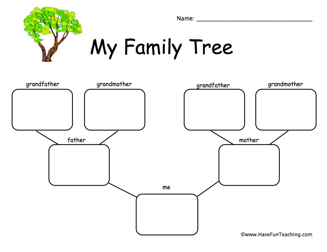 My Family Worksheet For Grade 1
