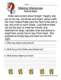 Inference Worksheets | Have Fun Teaching