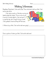 Inferences Worksheets | Page 2 of 2 | Have Fun Teaching