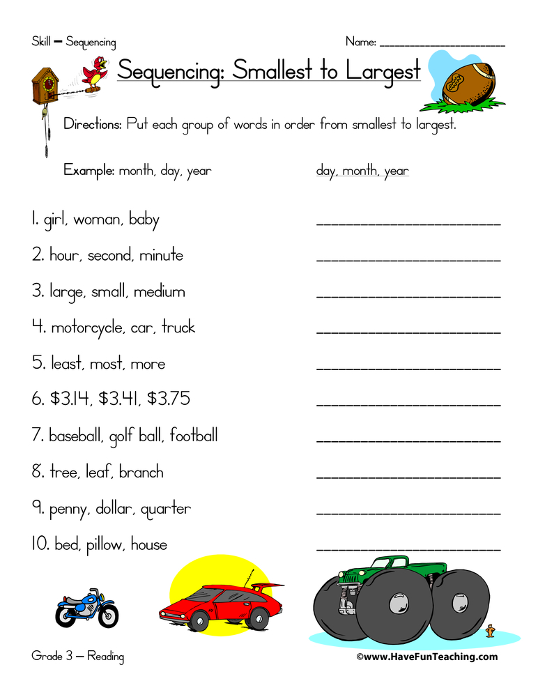 Sequence Worksheets