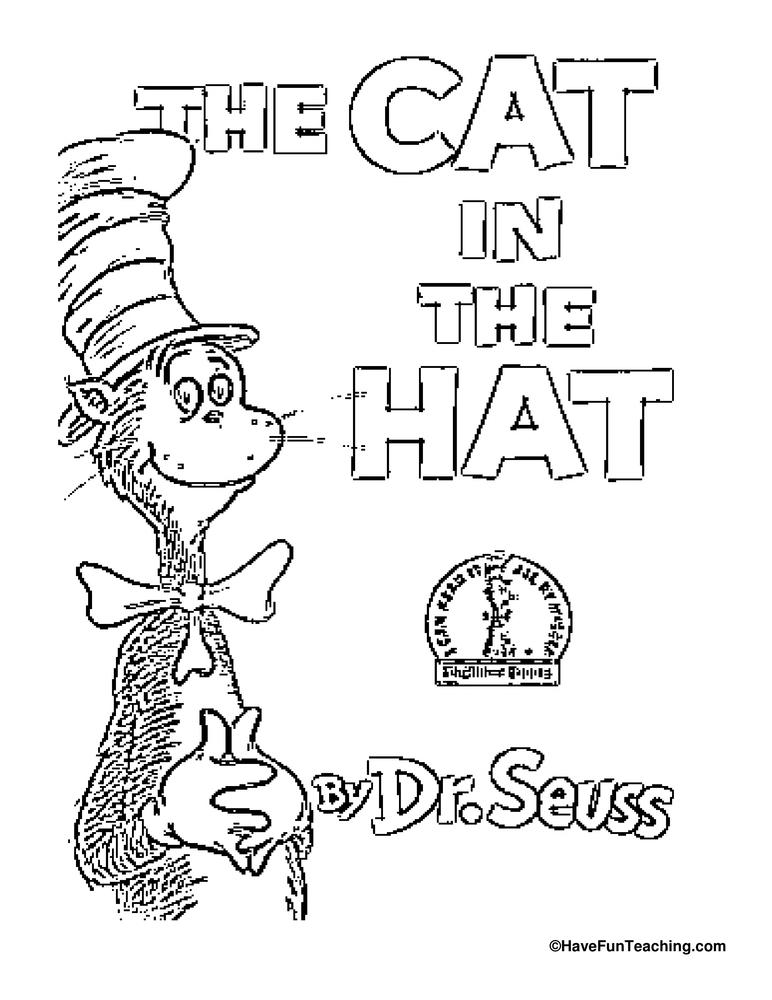 The Cat in the Hat Coloring Page: Celebrate Dr. Seuss and