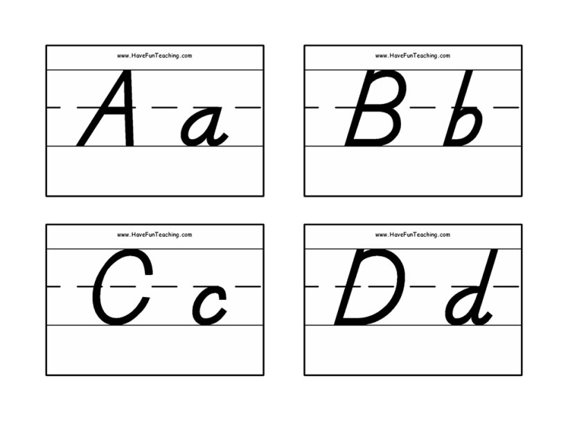 Alphabet Flash Cards Pdf Black And White | Cardfssn org