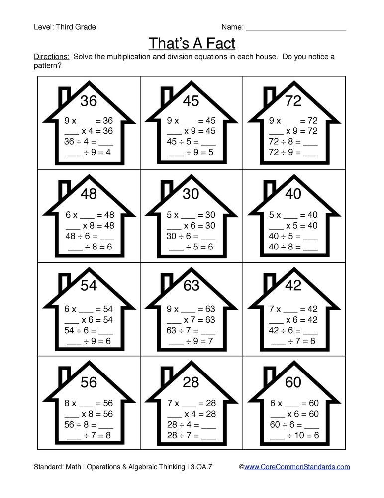 Printables. Common Core 3rd Grade Worksheets. Mywcct