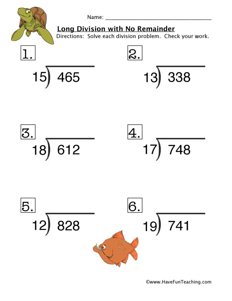 Division Worksheets 4th Grade With Remainders - Best Worksheet