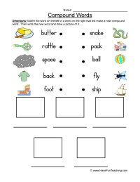 Compound Words Worksheets For Preschool. Compound. Best ...