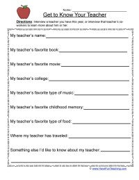 Student Information Sheets | Have Fun Teaching