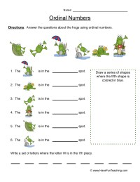 Ordinal Numbers Worksheets | Have Fun Teaching