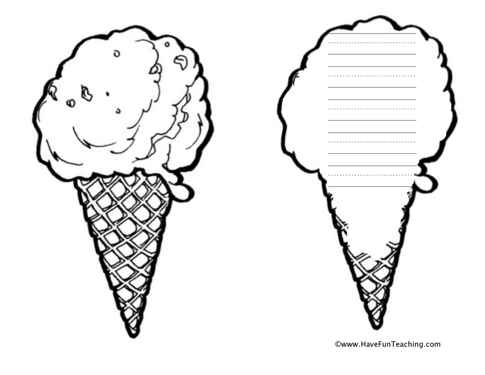 Ice Cream Writing Worksheets For Kindergarten. Ice. Best
