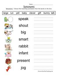 Kindergarten Antonyms Worksheets