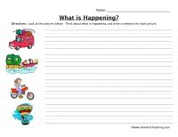 Transportation Sentence Worksheet