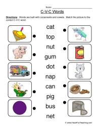 CVC Worksheets - Have Fun Teaching