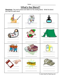 100+ [ Beginning Blends Worksheets ]