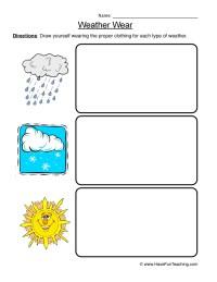 Weather Worksheet 3 - Weather Wear