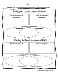 Math Multiplication Worksheets Resources