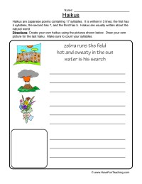 Poetry Worksheets | Have Fun Teaching