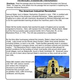 American Industrial Revolution Worksheet • Have Fun Teaching [ 1294 x 1000 Pixel ]