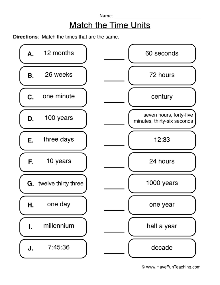 Printable Worksheets » Measuring Units Worksheets