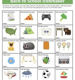 Back to School Icebreaker Worksheet • Have Fun Teaching [ 1294 x 1000 Pixel ]