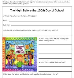 100th Day of School Party Worksheet • Have Fun Teaching [ 1294 x 1000 Pixel ]