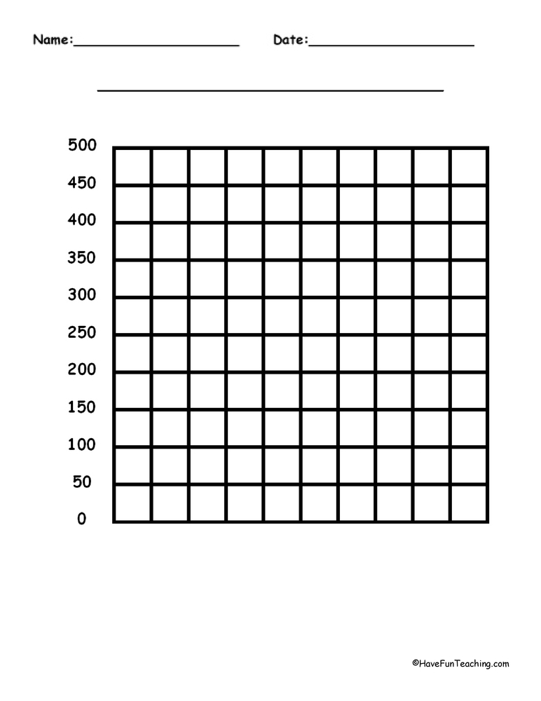 500 by 500 Blank Graph Paper • Have Fun Teaching