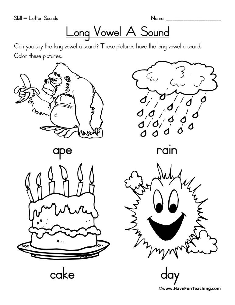 Long Vowel A Worksheet • Have Fun Teaching