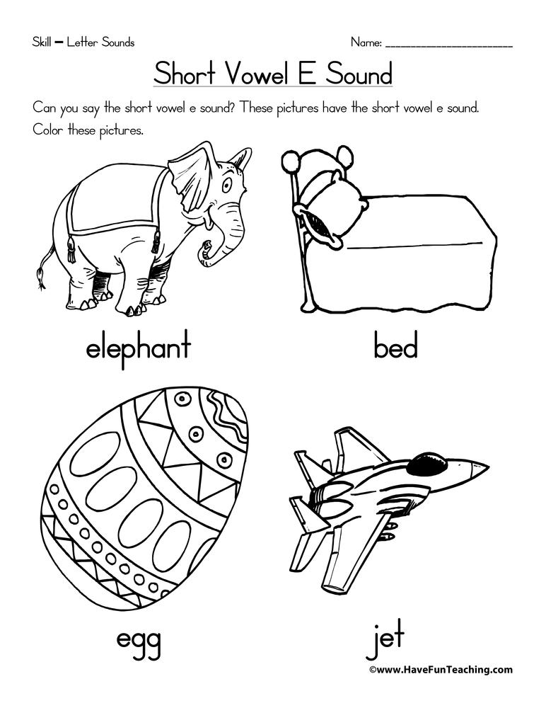 Short Vowel E Worksheet • Have Fun Teaching