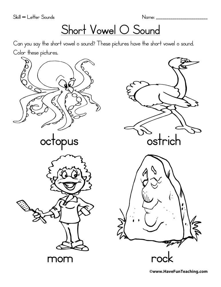 Short Vowel O Worksheet • Have Fun Teaching