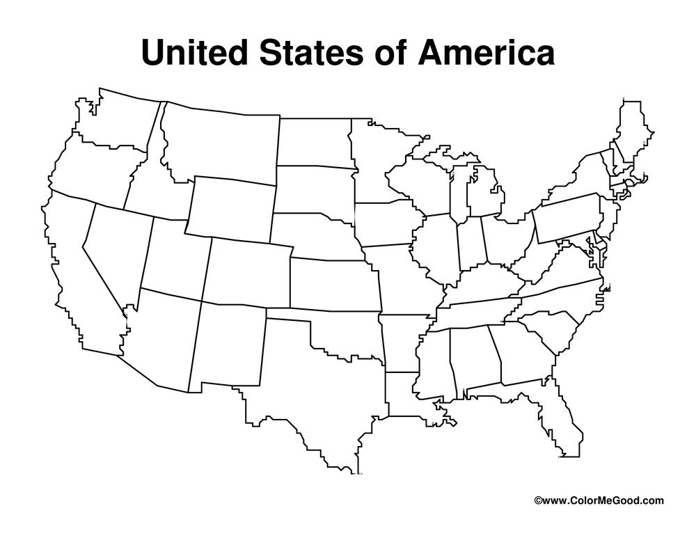 United States Blank Map Worksheet • Have Fun Teaching