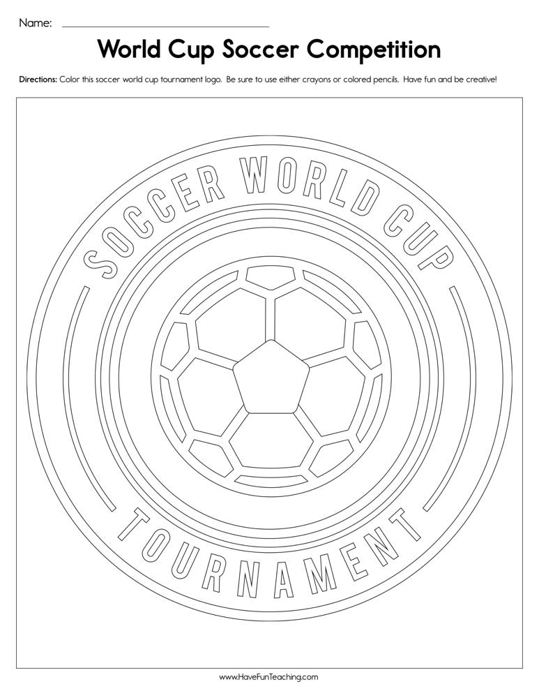 World Cup Soccer Competition Worksheet • Have Fun Teaching