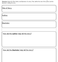 Author and Illustrator of a Story Worksheet • Have Fun Teaching [ 1294 x 1000 Pixel ]