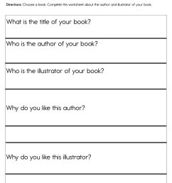 Author and Illustrator Worksheet • Have Fun Teaching [ 1294 x 1000 Pixel ]
