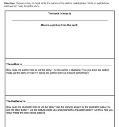 Author and Illustrators Worksheet • Have Fun Teaching [ 1294 x 1000 Pixel ]