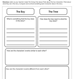 Characters The Giving Tree Worksheet • Have Fun Teaching [ 1294 x 1000 Pixel ]