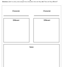 Comparing Characters Worksheet • Have Fun Teaching [ 1294 x 1000 Pixel ]
