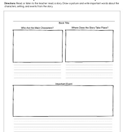 Important Parts of the Story Worksheet • Have Fun Teaching [ 1294 x 1000 Pixel ]