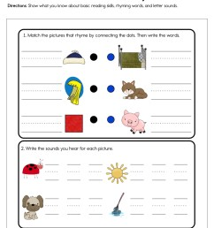Letter Sounds and Rhymes Worksheet • Have Fun Teaching [ 1294 x 1000 Pixel ]