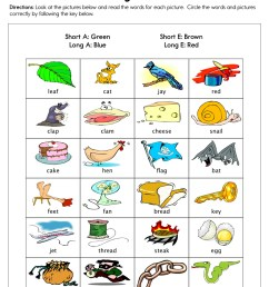 Short and Long Vowels A and E Worksheet • Have Fun Teaching [ 1294 x 1000 Pixel ]