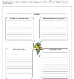 Tell About the Story Worksheet • Have Fun Teaching [ 1294 x 1000 Pixel ]
