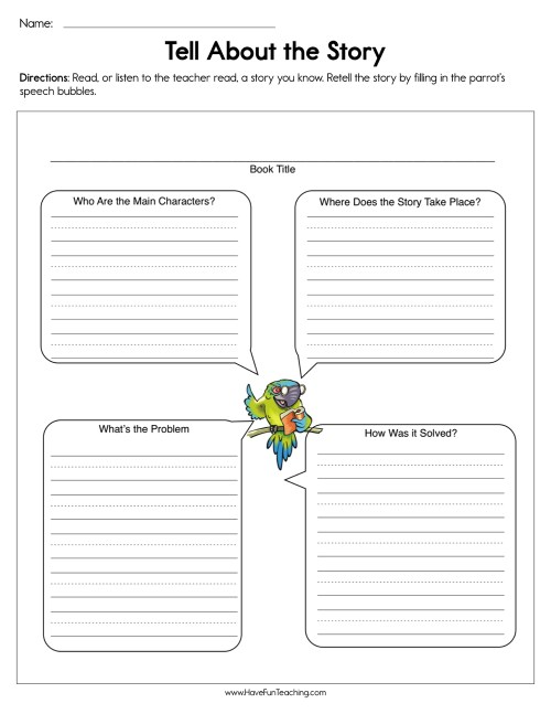 small resolution of Tell About the Story Worksheet • Have Fun Teaching
