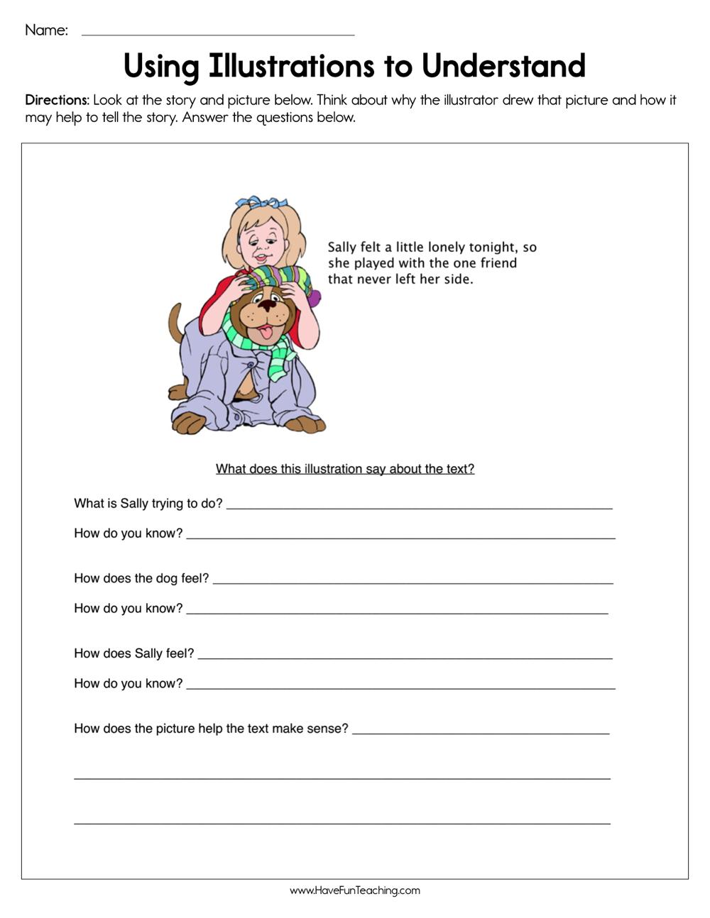 medium resolution of Using Illustrations to Understand Worksheet • Have Fun Teaching