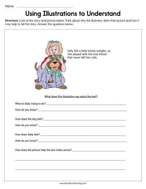 small resolution of Using Illustrations to Understand Worksheet • Have Fun Teaching