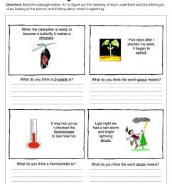 Using Picture Clues Worksheet • Have Fun Teaching [ 1294 x 1000 Pixel ]