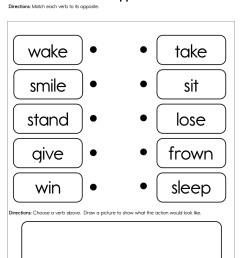 Verb Opposites Worksheet • Have Fun Teaching [ 1294 x 1000 Pixel ]
