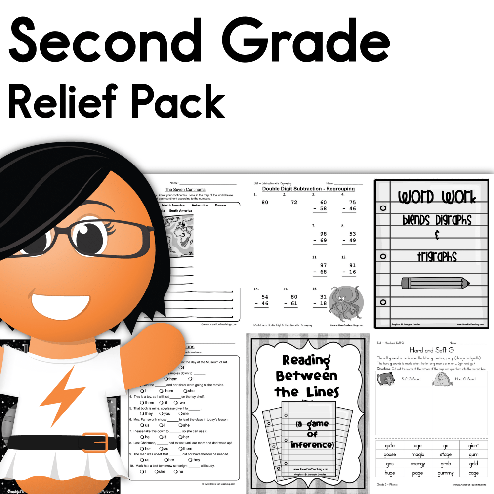 medium resolution of Second Grade Coronavirus Relief Pack • Have Fun Teaching
