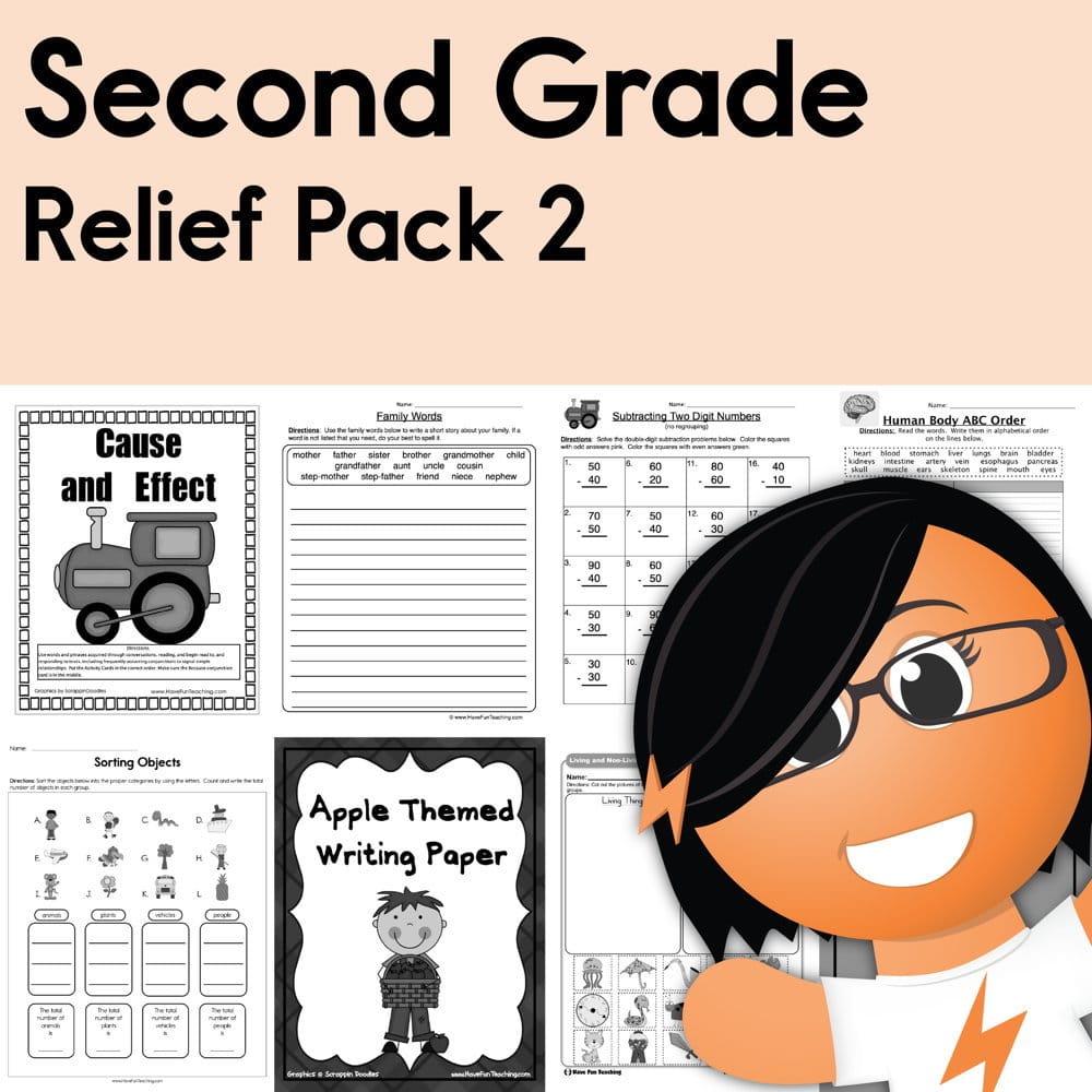 medium resolution of Second Grade Coronavirus Relief Pack 2 • Have Fun Teaching