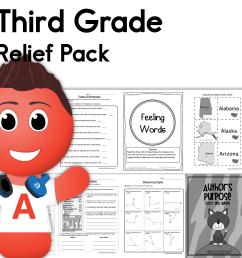 Third Grade Coronavirus Relief Pack • Have Fun Teaching [ 2000 x 2000 Pixel ]