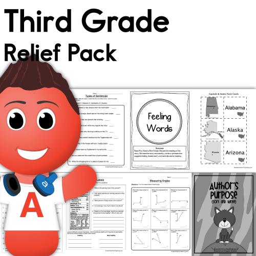 small resolution of Third Grade Coronavirus Relief Pack • Have Fun Teaching