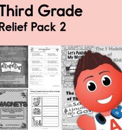 Third Grade Coronavirus Relief Pack 2 • Have Fun Teaching [ 1000 x 1000 Pixel ]